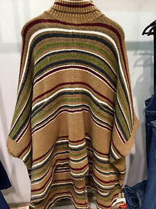30ad448bfe ZARA NEW WOMAN STRIPED PONCHO ONE SIZE  M Ref. 3859 025 ...