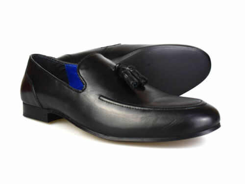 £ en pour glands Free Rrp Chaussures à 45 noires Red Uk cuir Mocassins Tape Pp Ampthill hommes WH9IEYD2