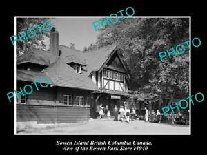 OLD-LARGE-HISTORIC-PHOTO-OF-BOWEN-ISLAND-CANADA-THE-BOWEN-PARK-STORE-c1940