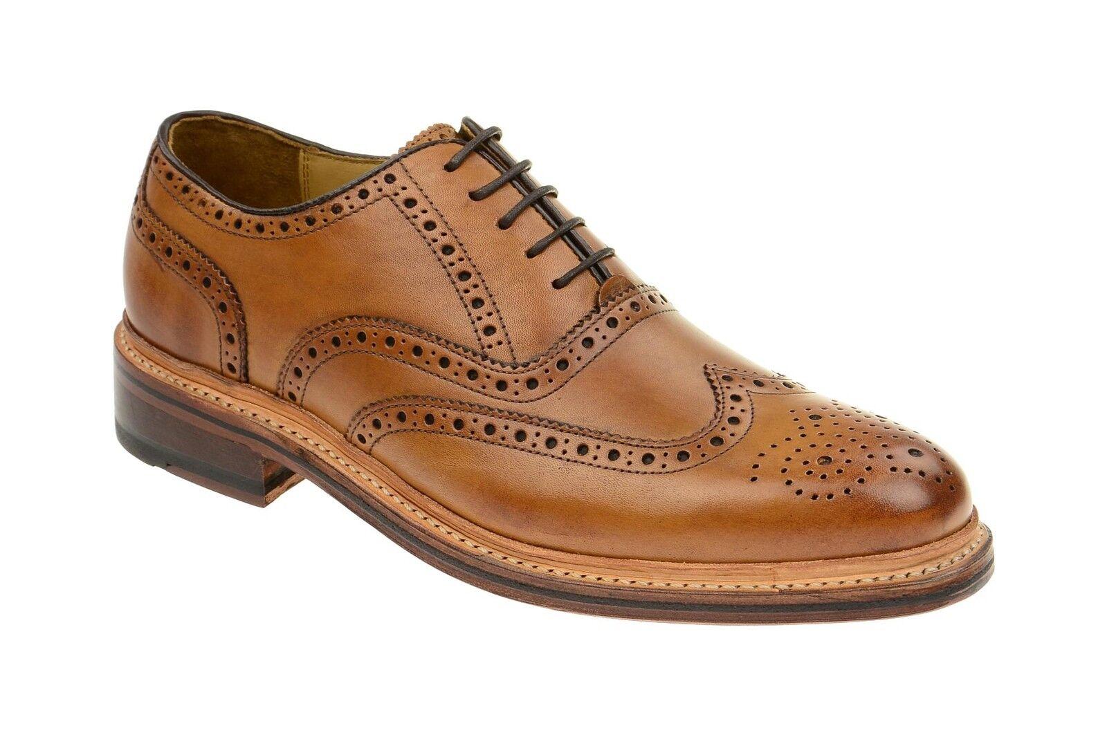 Gordon & Bros. zapatos levet marrón zapatos caballero rahmengenähte zapatos 2506-a tan