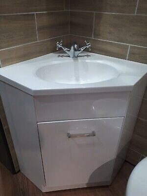 Corner Basin Vanity Unit, Corner Bathroom Sink Vanity Units