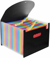 Expanding File Folder Accordion 24 Pockets Paper Document Organizer A4 Size New