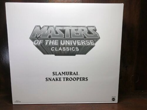 2019 Power-détenu Exclusive 3pk slamurai /& Serpent Troopers Masters of the universe collector choice Comme neuf IN BOX