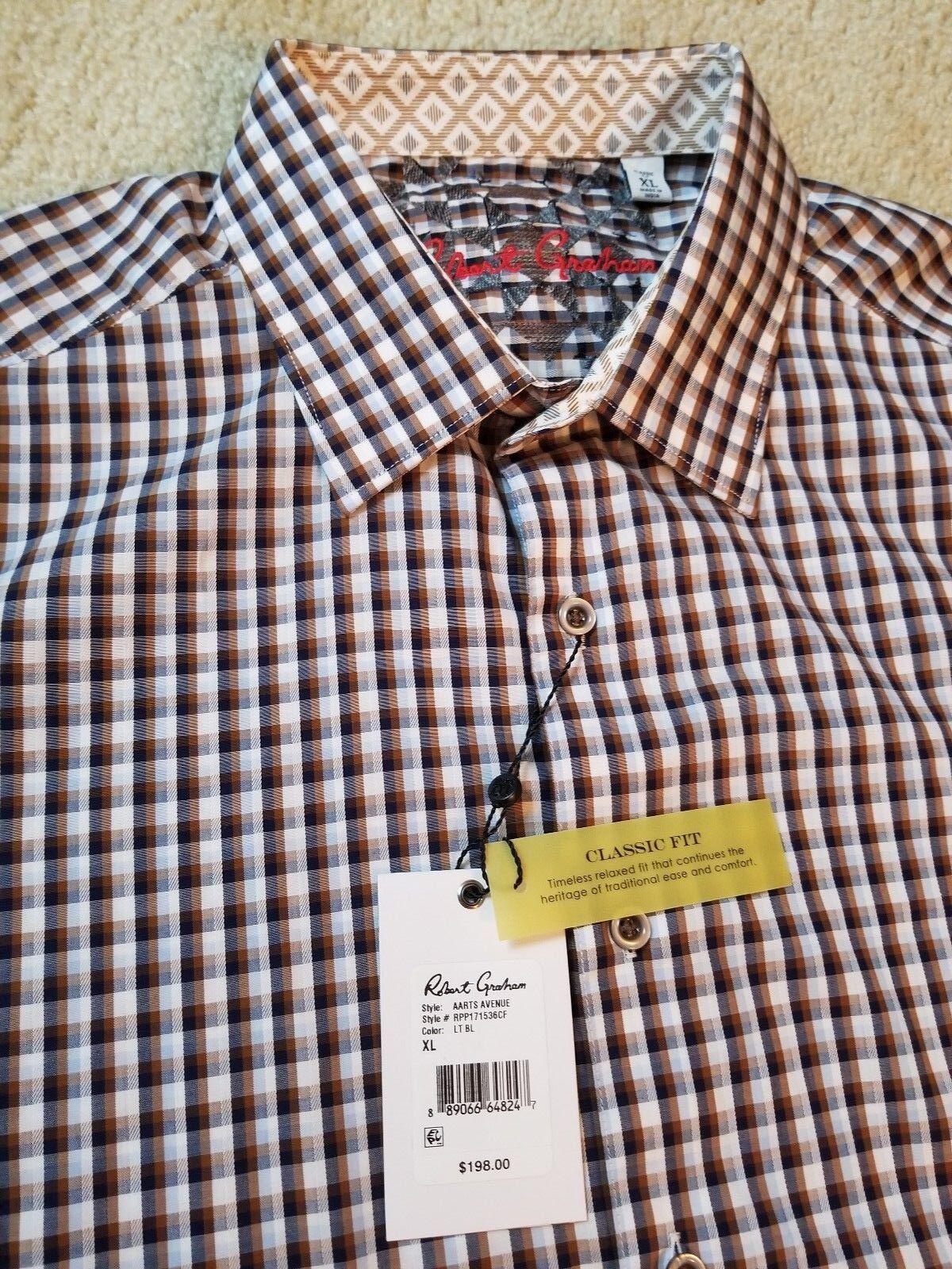 NWT herren ROBERT GRAHAM AARTS AVENUE DRESS hemd Größe XL NEW MSRP  198
