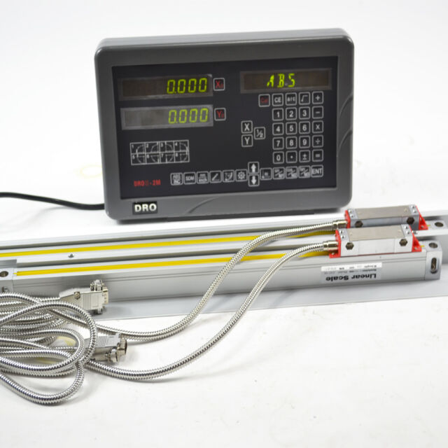 SINPO 2 AXIS DIGITAL READOUT DRO KIT WITH LINEAR SCALES FOR LATHE APPLICATIONS
