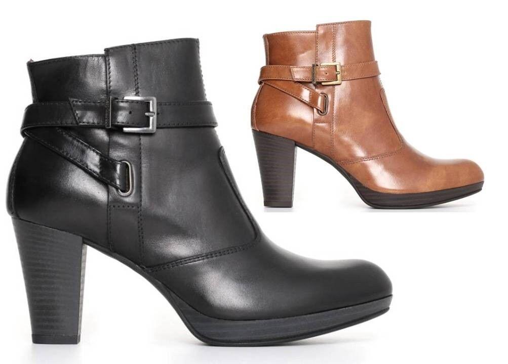 Nero Giardini A719111D Leder und schwarz Stiefel Ankle Frau mit Plateau