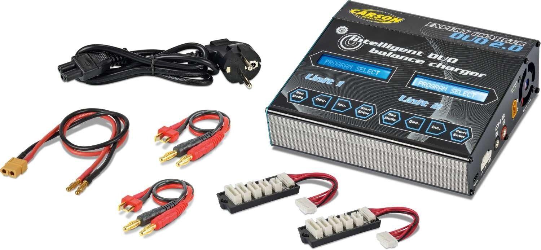 Carson Expert Charger Duo 2.0 cargador para NiMH, lipo baterías, entre otros,