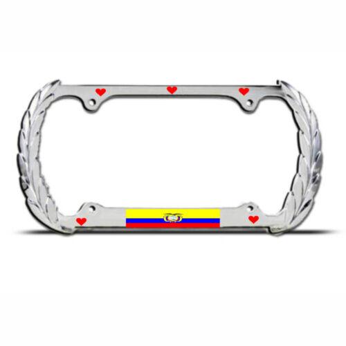 HEATH LOVE ECUADOR Heavy Duty COUNTRY PRIDE License Plate Frame SUV Auto Tag