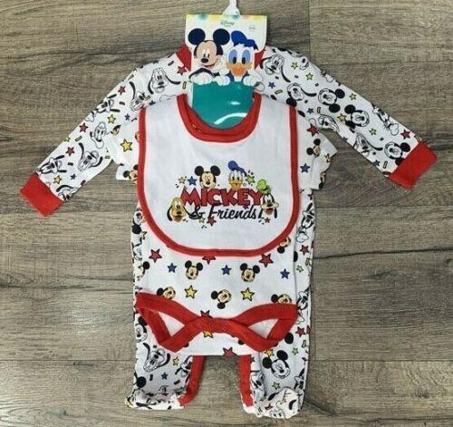 BRAND NEW BABY DISNEY MICKEY FRIENDS 3 PIECE GIFT SET SIZE 0-3 TO 3-6 MONTHS