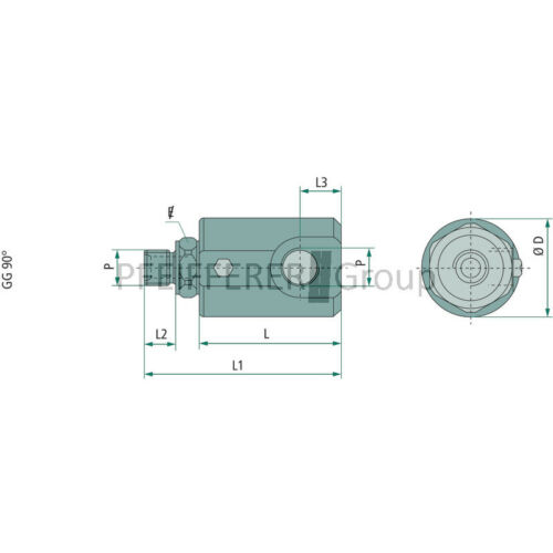 NPT Adapter Winkel Adapter AG-IG Drehverschraubung 90° WDK-04 GRANIT BSP