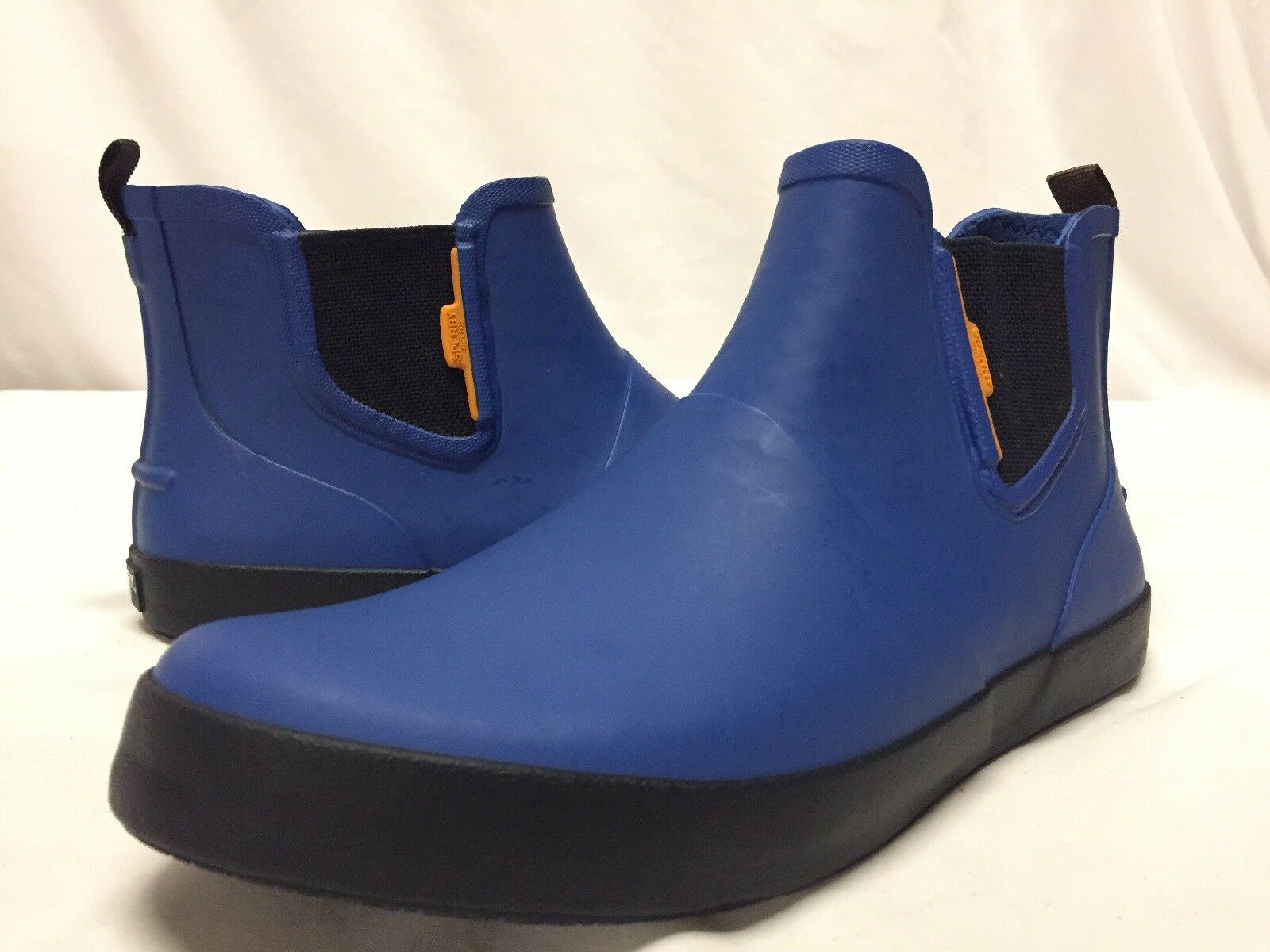 Mens Sperry Top Sider Flex Deck Chelsea   Boot, bluee, Size 9 Eur 42