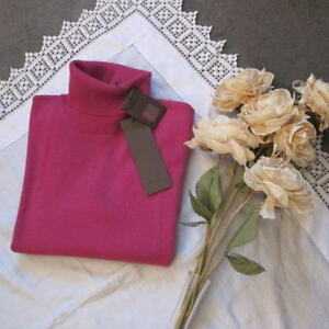 179 Nuovo 100 Jumper Neck Uk10 Lovely Rrp Polo £ Orchid Wild Pure By Cashmere Bnwt 6fOTwSgq