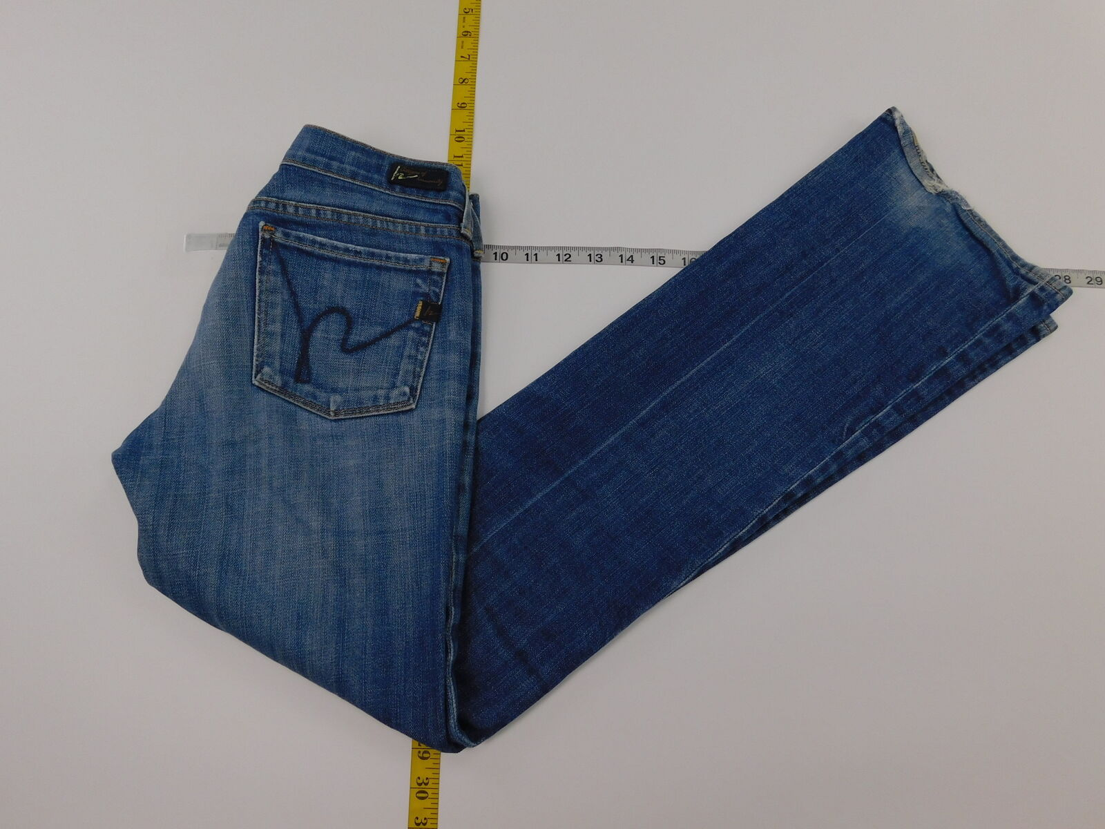 Womens Citizens of Humanity 26 Regular  Denim Jeans  Solid Light bluee