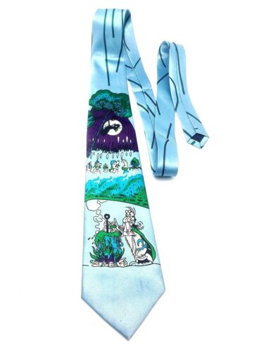 Men Cartoon Neck Tie Dress Casual Fun Wizard Road Runner Speedy Gonzales Loony B