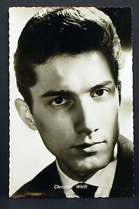 Christian-Wolff-Actor-Movie-Photo-Foto-Autogramm-Karte-AK-Lot-Z-1962