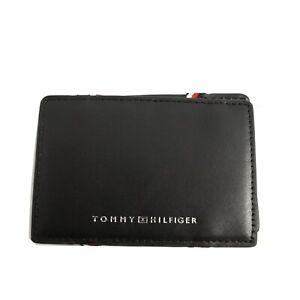 Soporte-Tejido-Hombre-Tommy-Hilfiger-Cuero-Negro-con-Elastici-Caja-Regalo-Logo