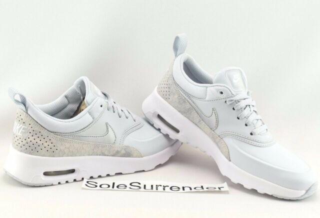 new styles 92f02 ff7bc Nike Air Max Thea PRM - SIZE 5.5 - 616723-018 Pure Platinum Silver Grey