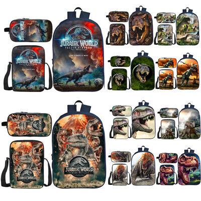 2019 Jurassic World Backpack 3Pcs School Bag Set Knapsack Lunch Bag Pencilcase