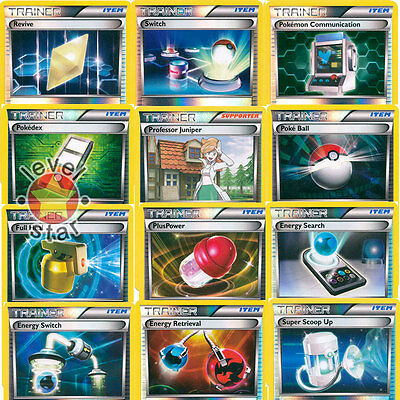 Black /& White Reverse Holo Trainer Supporter Pokemon Cards Choose Your Own!