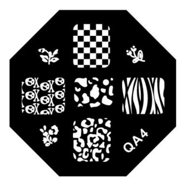 Fashion Design Nail Art Image Stamp Stamping Plates Manicure Template QA Series