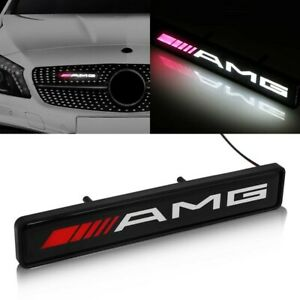 AMG-MERCEDES-Front-Grille-Badge-Led-Light-Luminous-Universal-E-CLASS-C-CLASS