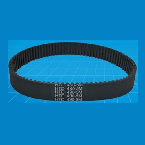 HTD5M-450//455//460//470//480//485//495 Machine Black Rubber Timing Belt 10mm Width