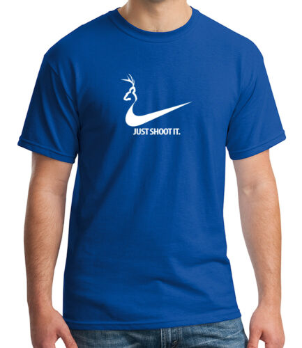 1332C Shoot It Deer Adult/'s T-shirt Funny Hunting Antler Camo Tee for Men