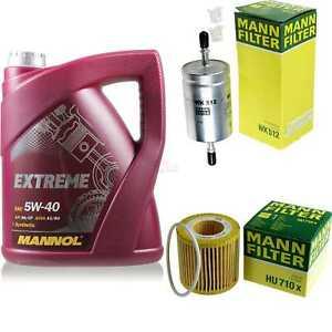 MANNOL-5L-Extreme-5W-40-Motor-Ol-MANN-FILTER-VW-Polo-9N-1-2-12V-Fox-5Z1-5Z3-6Y2