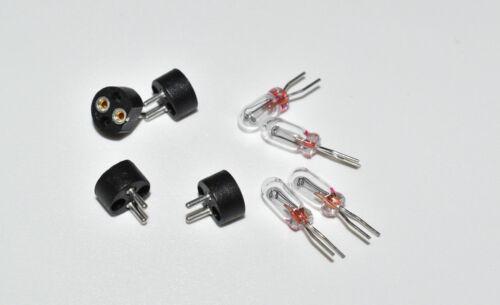 4 Stück BiPin Sockel mit Märklin Birne 610080 Set NEUWARE 604180 Digitalsockel