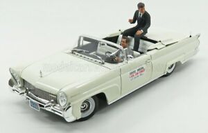 SUN-STAR 1/18 LINCOLN   CONTINENTAL MKIII CABRIOLET 1960 - WITH JOHN F.KENNED...