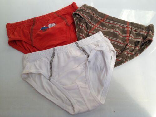 BNWOT Boys Sz 6-8 Pack of 3 Soft 100/% Pure Natural Cotton Undies Briefs Pants