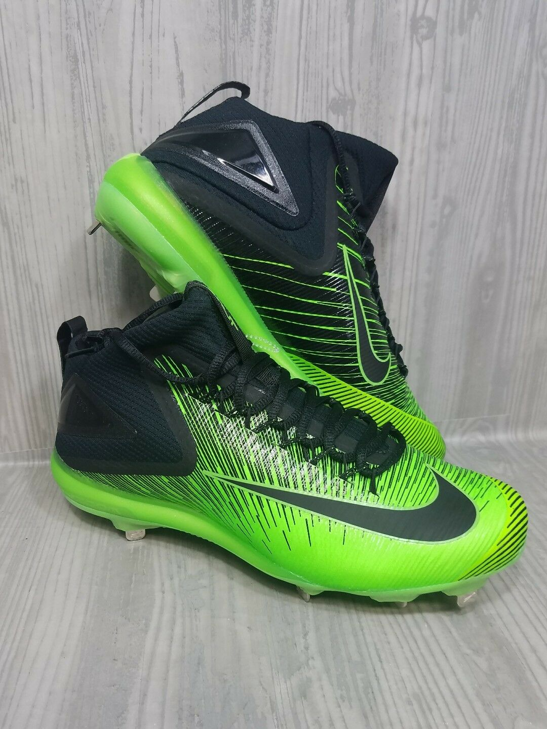 6397bdc2a Nike Zoom Mike Trout Trout Trout 3 ASG Metal Baseball Cleats Black Green Mens  Size 11.5 d2aa73