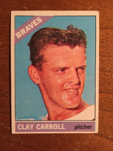 1966 Topps Clay Carroll #307 Baseball Card
