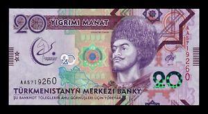B-D-M Turkmenistan 20 Manat 2017 Pick 39 SC UNC WbRNyjpj-07134241-568225404