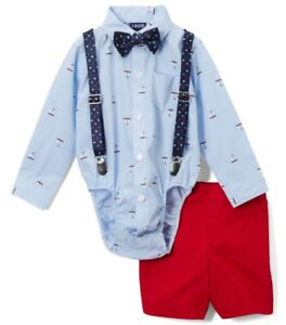 d5fd3e8c471d Boys IZOD suit outfit 12M 18M 24M NWT nautical dress shirt bow tie ...