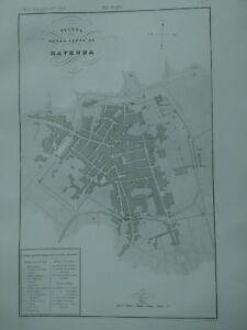 1844 Zuccagni-Orlandini Pianta della Città di Ravenna Mappa Emilia Romagna