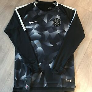Nike-Herren-Paris-Saint-GermainTrainings-Shirt-Dry-Top-Fussball-langarm-Trikot-M