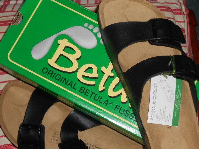 Betula Boogie black Leder / Birkoflor / 44 EVA Mix 40 - 44 / teilweis.in OVP 610a9d