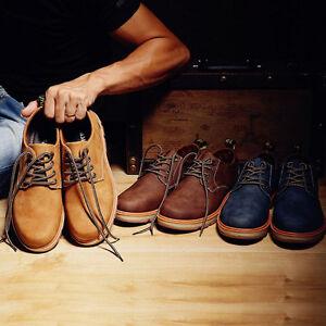 6fed5928177 Image is loading Warm-Winter-Men-Leather-Waterproof-Light-Boots-Low-