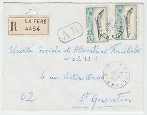 LETTRE-LA-FERE-POUR-ST-QUENTIN-1971-RECOMMANDE-AR