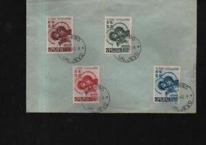 (a67992) Serbie Occupation Allemande 4 Marques Sur Enveloppe, Estampillé 1942-afficher Le Titre D'origine Promouvoir La Santé Et GuéRir Les Maladies