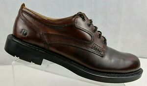 Dunham-9100BR-Mens-Waterproof-Tru-Trak-Smooth-Leather-Oxford-Brown-Shoes-US-11D