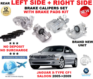 FOR JAGUAR X TYPE REAR CALIPERS LEFT RIGHT WITH PADS KIT SALOON CF1 2005-/>2009