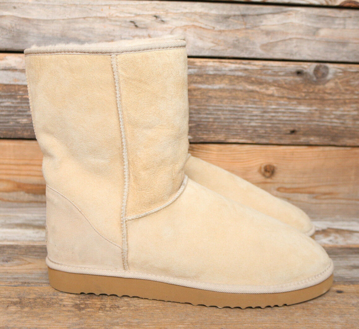 UGG Australia Herren Classic Short Sand Sheepskin Original Surf Boots US 17 UK 16