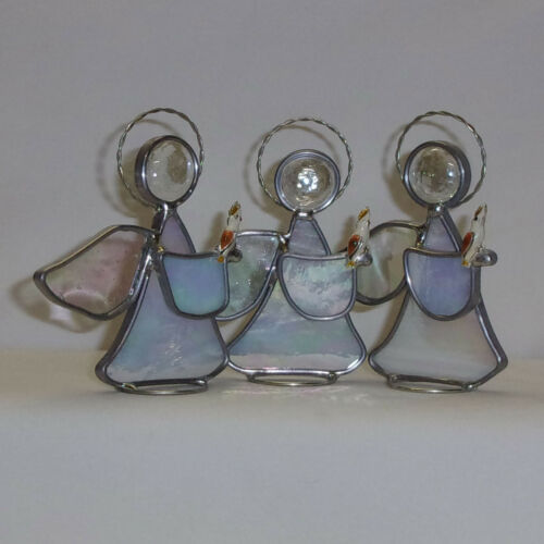 Cockatoo Cockatiel New Handmade Leaded Stained Glass Angel USA Made Pretty Bird