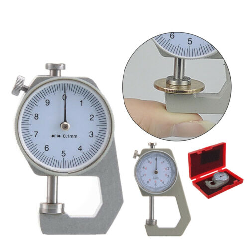 Pointed//Flat 0-10mm Double Pin Thickness Measuring Gauge Meter Precision 0.1MM