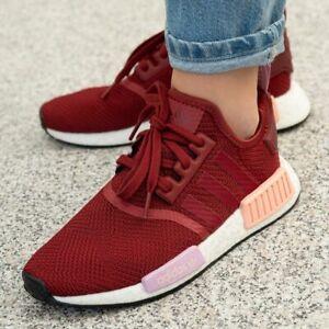 En período heroína  Adidas nmd r1 cortos señora chicos chica zapatillas zapatos red rojo rojo  b37646 | eBay