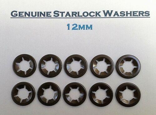 Starlock Washers Fastener Clips 12mm pkt of 10