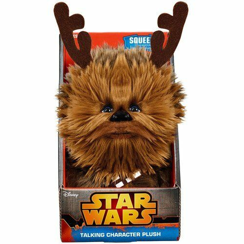 """STAR WARS CHEWBACCA  8/"""" TALKING PLUSH WITH ANTLERS BRAND NEW IN BOX"""