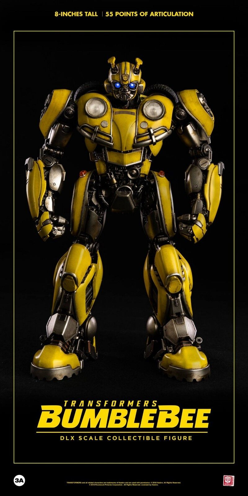 HASBRO X threeA Toys TRANSFORMERS Bumblebee DLX scale 8  Action Figure